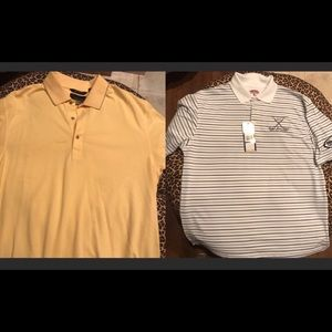 Lot of 2 XL polo golf shirts, one is NWT